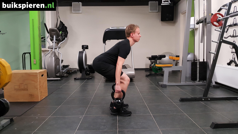 Kettlebell squat - Eindhouding